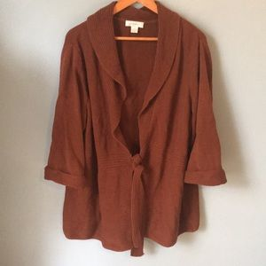 CJ Banks Tie Front Cardigan